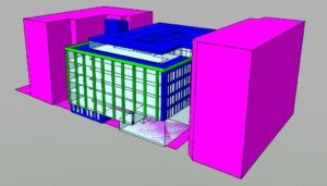 Thermal modelling image of office building